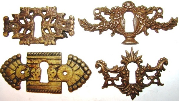 Antique Hardware, Restoration Hardware Furniture Escutcheons ... - Robinson's Antique Hardware - French Provincial Style Drawer Pulls